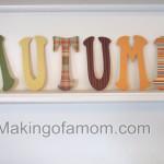 Autumn Letters Tutorial