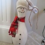 Bowling Pin Snowman Tutorial