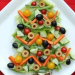 Veggie Christmas Tree Appetizer