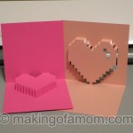 Silhouette Tutorial: Valentine Pixelated Popup Heart Card