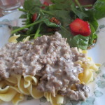 Beef Stroganoff and Spinach Strawberry Salad- Favorite eMeals Recipe