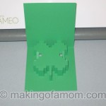pixelated shamrock popup card