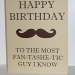 Silhouette Project: Fan-tashe-tic Birthday Card