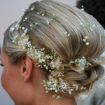 A Fresh look Beautiful Wedding Hair with Flowers