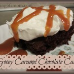 Gooey Caramel Chocolate Cake Recipe
