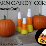 Easy Halloween Candy Corn Craft