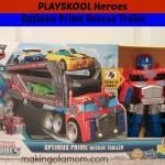 Transformers Optimus Prime Rescue Trailer from PLAYSKOOL