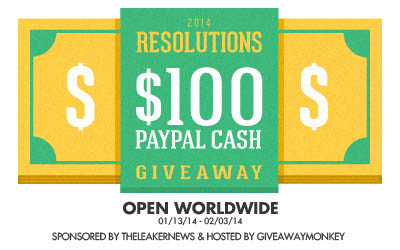 2014 Resolutions $100 Paypal International Blog Giveaway-2