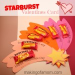 Starburst Valentines Day Card