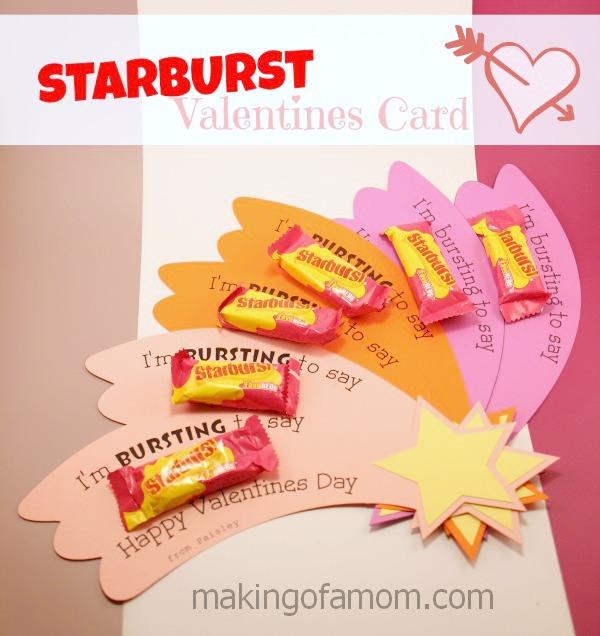 Starburst Valentines Day Card – Valentines Cards for Mom