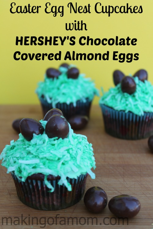 Easter-Egg-Nest-Cupcakes-HERSHEY'S-Chocolate-Covered-Almond2