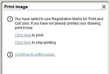 Silhouette Studio print image options