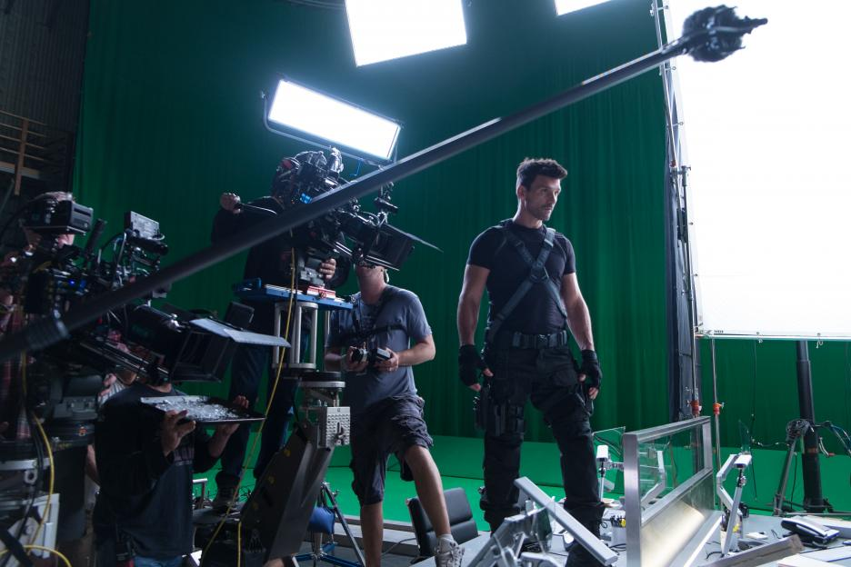 directing elevator scene