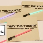May the Fourth be with You printable card