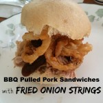 BBQ Pulled Pork Sandwich with Onion Strings