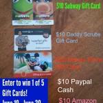 Gift Card Palooza Giveaway