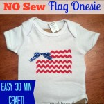 No Sew Flag Onesie