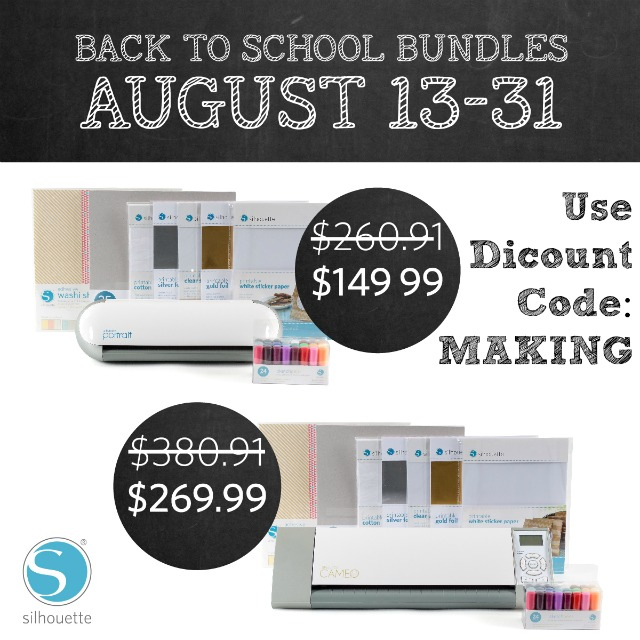 Silhouette Back to School Sale