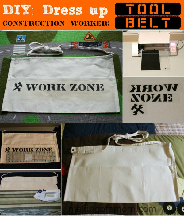 DIY: Dress up - Constuction Worker with vest, tool belt and hard hat