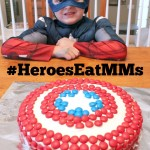 How to Make a Captain America Shield Cake with M&M's