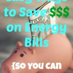 Easy Ways to Save Money on Energy Bills {So You Can Splurge on FUN}