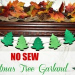 DIY No Sew Felt Christmas Tree Garland