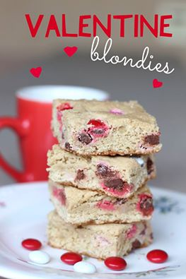 Valentine-Blondies