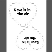 Love is the in the Air Valentine with Airheads for Valentines Day