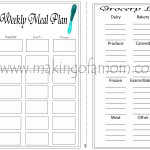 New Year- New Meal Planning Printable!