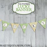 Lucky St. Patrick's Day Printable Banner