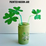 DIY Shamrock Bouquet in Painted Mason Jar – 12 Days of St. Patrick's Day