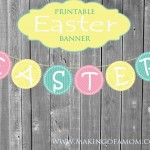 Pastel Easter Printable Banner