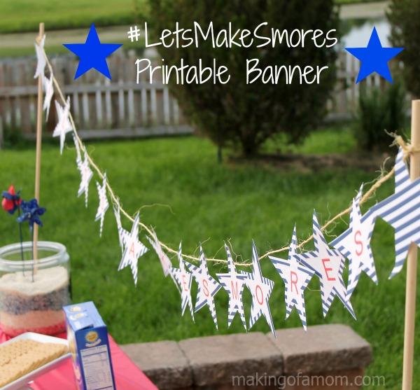 #LetsMakeSmores-Printable-Banner