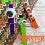 DIY Halloween Monster Clips