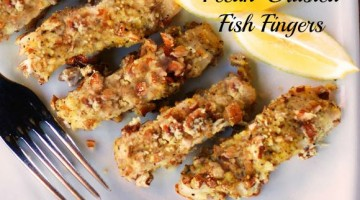 Pecan-Crusted Fish Fingers