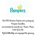$100 Amex and Pampers Giveaway