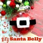 DIY Santa Belly Christmas Tree Ornament