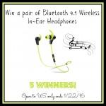 Bluetooth 4.1 Wireless In-Ear Headphones Giveaway