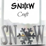 Easy Wooden SNOW Craft