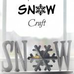 Easy Wooden SNOW Craft