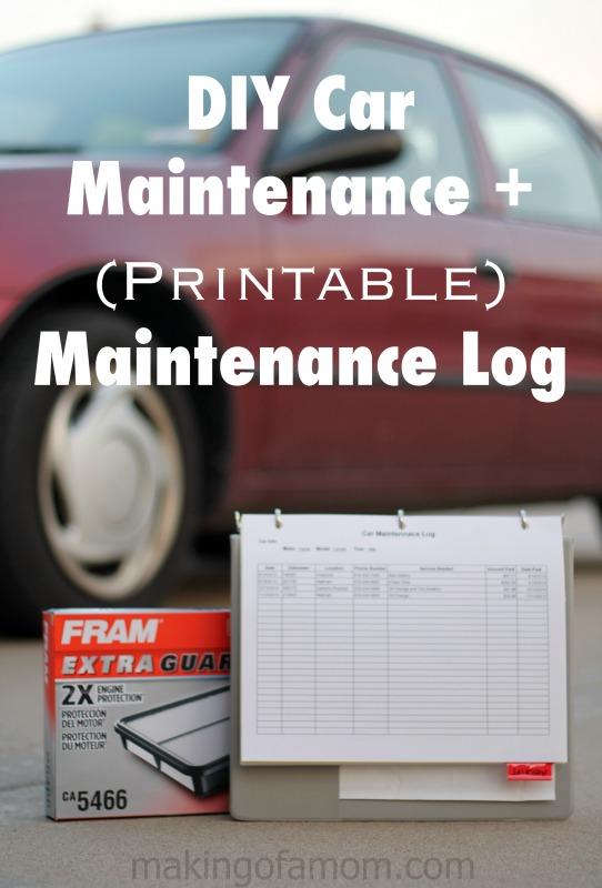 DIY-Maintenance-log