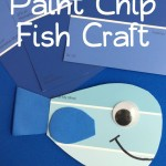 Paint Chip Fish Craft