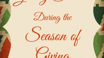 Giving Service During the Season of Giving