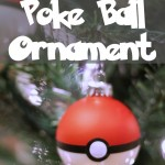 DIY Poke Ball Christmas Ornament