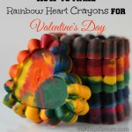 How to Make Rainbow Heart Valentine Crayons