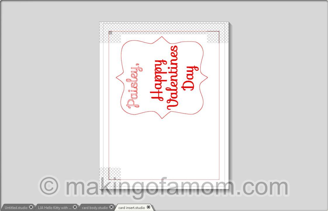 hello kitty valentine card