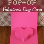How to create a Pixelated Heart pop-up Valentines Days - makingofamom.com