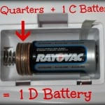 quarters and c batteries