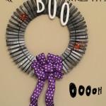 Easy Clothes Pin Halloween Wreath