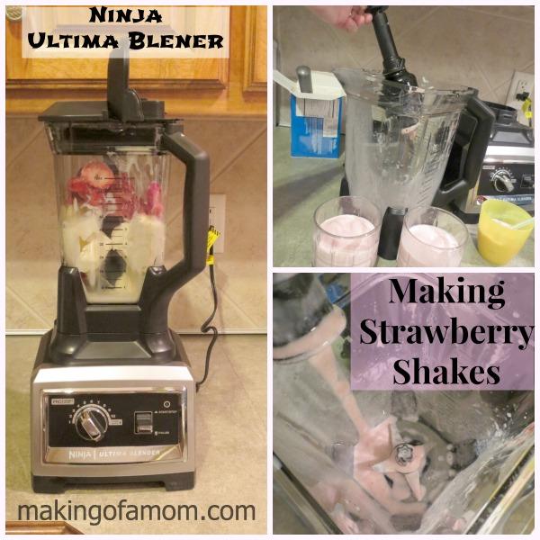 Ninja-Blender-Strawberry-shakes